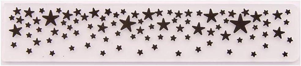 Horoshop Molde de estêncil, pasta em relevo, estampa de estrelas, álbum de fotos, suprimentos para fazer cartões
