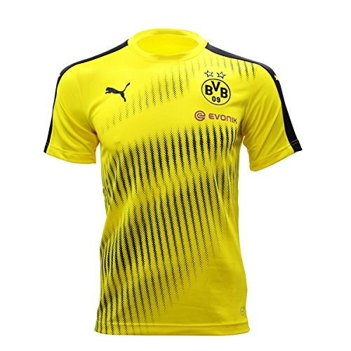 PUMA Herren BVB Stadium Jersey with Sponsor Logo Trikot, Cyber Yellow Black, L