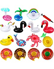 DMG Swimming Toys, Toys for Boys and Girls, Baby Toys, 15 Pieces of Drink Floats, Inflatable Cup Holders, Flamingo Coasters, Inflatable Coasters for Children's Bath Toys for Summer Pool Parties