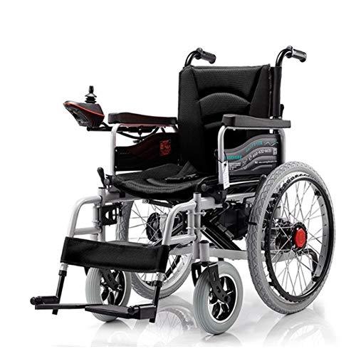 Transportrolstoelen, elektrische rolstoel, die opklapbaar naar boven, zware belasting, geschikt voor oudere mensen, gehandicaptenmensen en mensen met een hemisleiding, dual motor, handmatig/elektrisch gemakkelijk te wisselen.