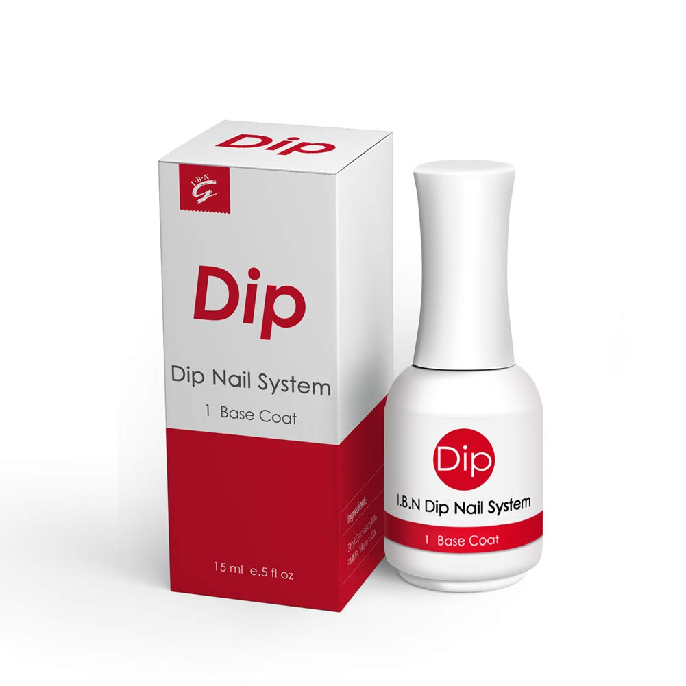 Dip Powder Base Coat 15ml/Bottle (Added Calcium and Vitamin) for Dipping Powder Nail Salon At Home Use DIY Manicure (Base Coat)