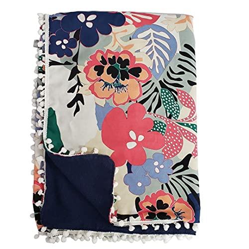 Canga toalha flores Lar em Cor