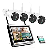 <span class='highlight'><span class='highlight'>Jennov</span></span> 5MP CCTV Camera Systems Wireless Outdoor with 12 Inch Monitor WiFi Home Security Camera System 4CH CCTV Kit 4 Cameras Wireless NVR Recorder with Hard Drive 1TB Motion Detection Remote View