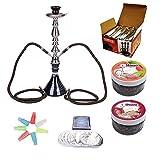 RMAN® Wasserpfeife Shisha Set - 1 x Shisha Hookah / 1 x Shisha Kohle Naturkohle / 1 x Hygiene...