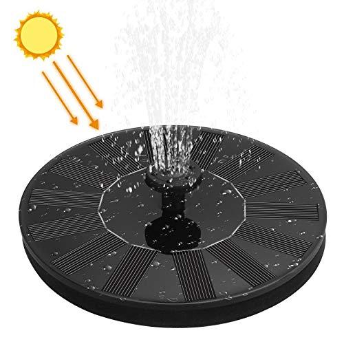 Hasidi Solar Springbrunnen,Solar Teichpumpe Solar Wasserpumpe Solar schwimmender Fontäne Pumpe für Gartenteich & Teich