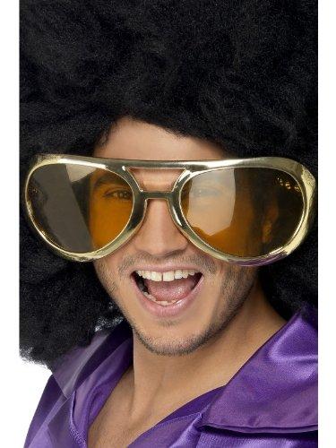 Smiffy\'s-31055 Gafas de rock gigantes de los 70, surtidas, color oro, No es applicable (31055)