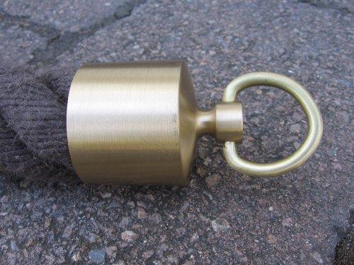 Endkappe mit Ring für 40mm Handlaufseil Messing