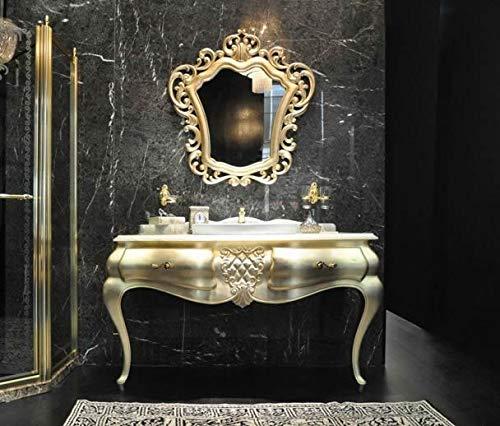 Designwaschtisch Luxus Waschtisch Marmor Badmöbel Spiegel Bad