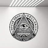 mlpnko Vinyl Aufkleber Pyramide Wandtattoo Home Decor Wohnzimmer Schlafzimmer Wandbild 50X50cm