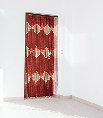 Catral Tonkin Cortina para Puerta, Multicolor, 1x90x200 cm