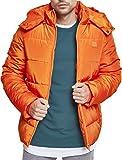 Urban Classics Herren Hooded Puffer Jacket Jacke, Rust orange, XL