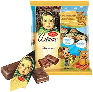 Chocolate candies Alenka Olenka Alionka Imported Russian Russian Sweets Candy Food Grocery Gourmet Bars (Pack=250 grams)