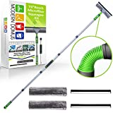 Modern Domus Window Cleaning Kit - 74 inch Long Handle Squeegee Window Washing Kit with Flexible Head - 2 in 1 Window Cleaner Tool for High Windows, Shower Glass, Car Windshield