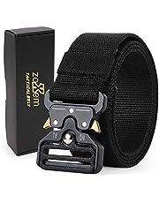 Cinturón táctico, cinturón de Nailon de Estilo Militar Resistente con Hebilla de liberación rápida para Hombres, Mujeres, Caza, policía, Bomberos