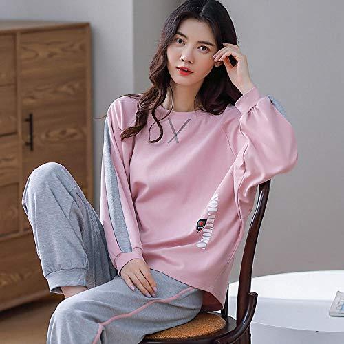 Nightclothes Ladies Cotton, Women's winter cotton casual home wear pajamas,-2956_L, Pajamas Set for Women Cotton