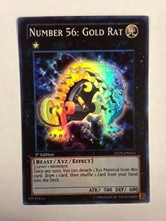 Yu-Gi-Oh! - Number 56: Gold Rat (ZTIN-EN013) - 2013 Zexal Collection Tin - 1st Edition - Super Rare