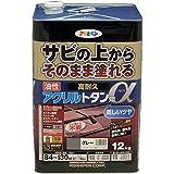 アサヒペン 油性高耐久アクリルトタン用α 塗料 12kg グレー