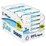 Dodot Toallitas Aqua Pure para Bebé, 99% Agua, 864 Toallitas, 18 Paquetes (9x48)