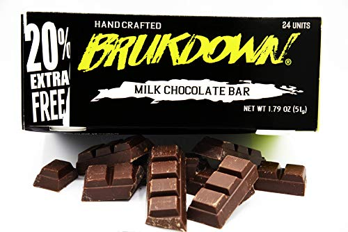 Brukdown Belize Specialty Chocolate Bar Roasted Almonds 52% Cocoa from Bean to Bar Socially Responsible Milk Chocolate, Great for Gifts, Gluten Free, Organically Grown Experience Mahogany Artisan (3 Bar Pack)