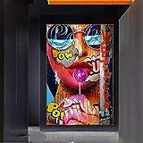 Wandkunst 70x90cm ohne Rahmen Graffiti Kunst der Mädchen
