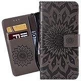 Ougger Coque pour Motorola One Power (P30 Note) Etui Cuir Fleurs Portefeuille Silicone Magnétique...