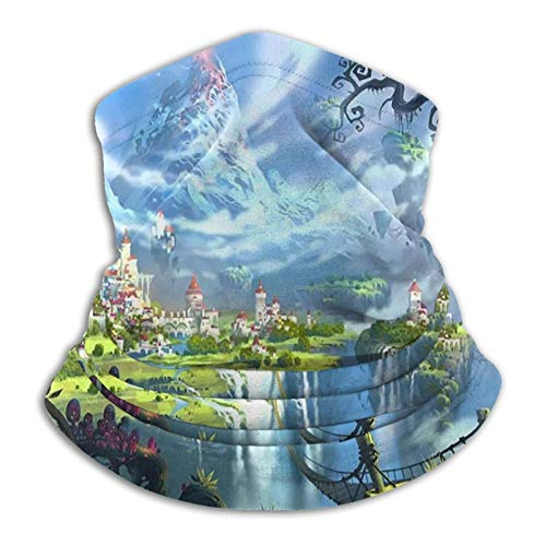 Forest Castle Psychedelic Fairy Tale Neck Warmer Scarf Gaiter Face Mask Bandanas For Dust Cold Weather Winter Outdoors