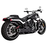 Vance & Hines Hi Output 2 Into 1 Exhaust Black Short 46545