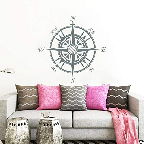 Compass Nautical Compass Rose Vinyl Wall Sticker Navigation Movie Scene