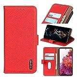 Case Happy-L Pour iPhone 12/12 Pro, véritable boîtier de portefeuille en cuir véritable,...