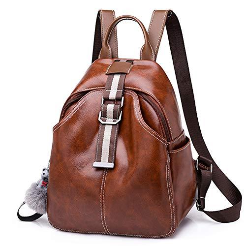 DONYKARRY Rucksack aus Leder für Frauen, Handtasche, wasserdicht, niedlich, aus leichtem Nylon, Rucksack, Schultasche, Umhängetasche, für Damen