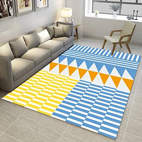 kailehi Gedrucktes geometrisches abstraktes Haus 180 * 300CM M022,Home Indoor/Outdoor recyceltem Kunststoff Bodenmatte/Teppich - reversibel - Wetter und UV-beständig
