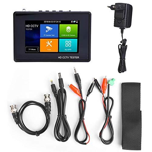 CCTV tester IPC camera tester 4 inch IPS-touchscreen IP-camera tester IPC1800ADHplus videobewakingstester TVI CVI AHD tester 110-240V EU Plug