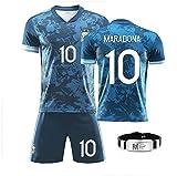 GRXIN Maradona Diego (Napoli Et Argentino) Camiseta De Fútbol 1986 Argentina World Cup Legend Camiseta De Fútbol Camiseta Retro De Secado Rápido...