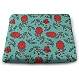 MUZIBLUE Fashions Chair Cushions Memory Foam, Durable, Superior Comfort and Softness, Reduces Pressure, Washable, 13.7 X 15 Inches