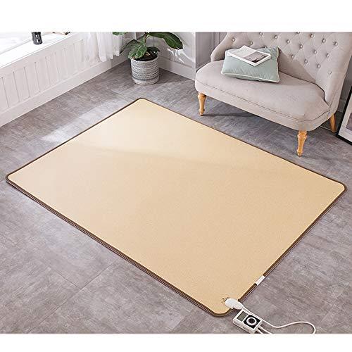 Carbon Crystal Mobile Fußbodenheizung Boden/Mobile Fußbodenheizung Boden (beige) Leder Stoff, elektrische Fußbodenheizung zu Hause,