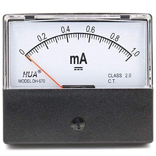 Heschen Rechteckiger Stromzähler, Amperemeter, DH-670, DC 0-1 mA, Klasse 2.0, CE-gelistet