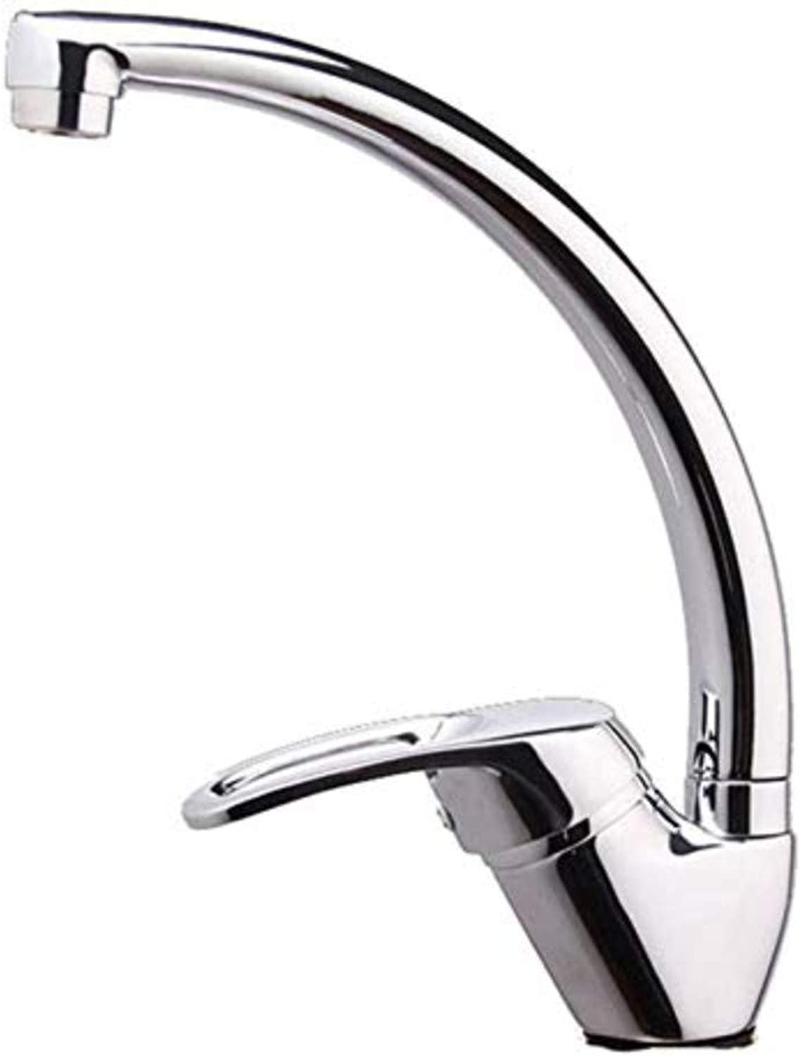 Water Taptaps Kitchen Stainless Steel Sink Copper Single Hole Hot and Cold Water Faucet