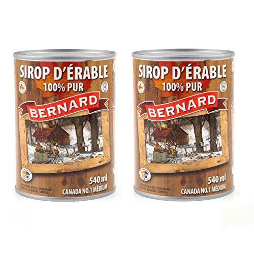 Pur Sirop d'érable en canette - Grade A (Dark, robust taste) - Pack 2 x 540 ml (714 g) - Original maple syrup - Pur Sirop d'érable
