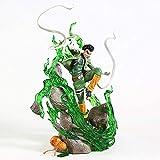 Liiokiy 32 cm Figura de acción Naruto Naruto Rock Lee Statue PVC Anime Figure Collection Figure Decoration Art Gift Games Anime Animation Personaje Modelo Hecho A Mano Modelo Juguetes