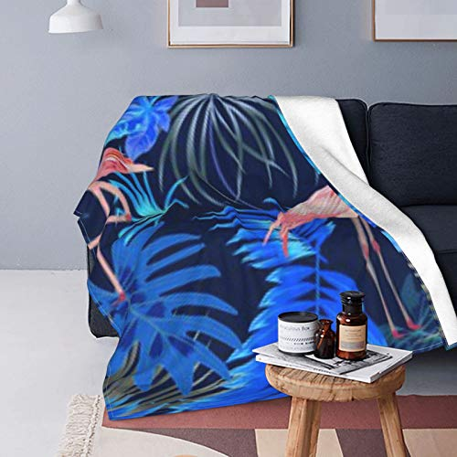 DUTRIX Patrón Flamingo Hojas Monstera Ultra Suave Manta de forro polar 80' X60' 200×150cm