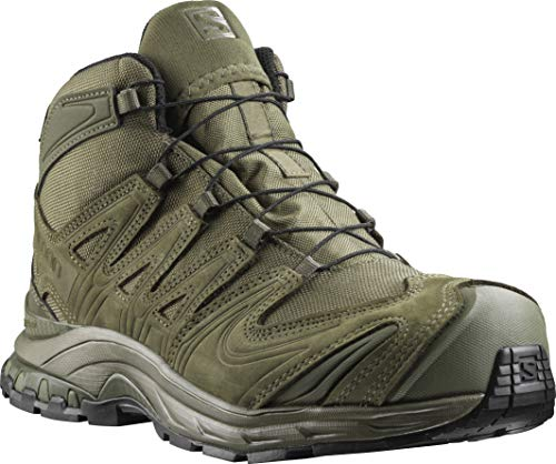 Salomon Men's XA Forces Mid Backpacking Boot, Ranger Green, 9