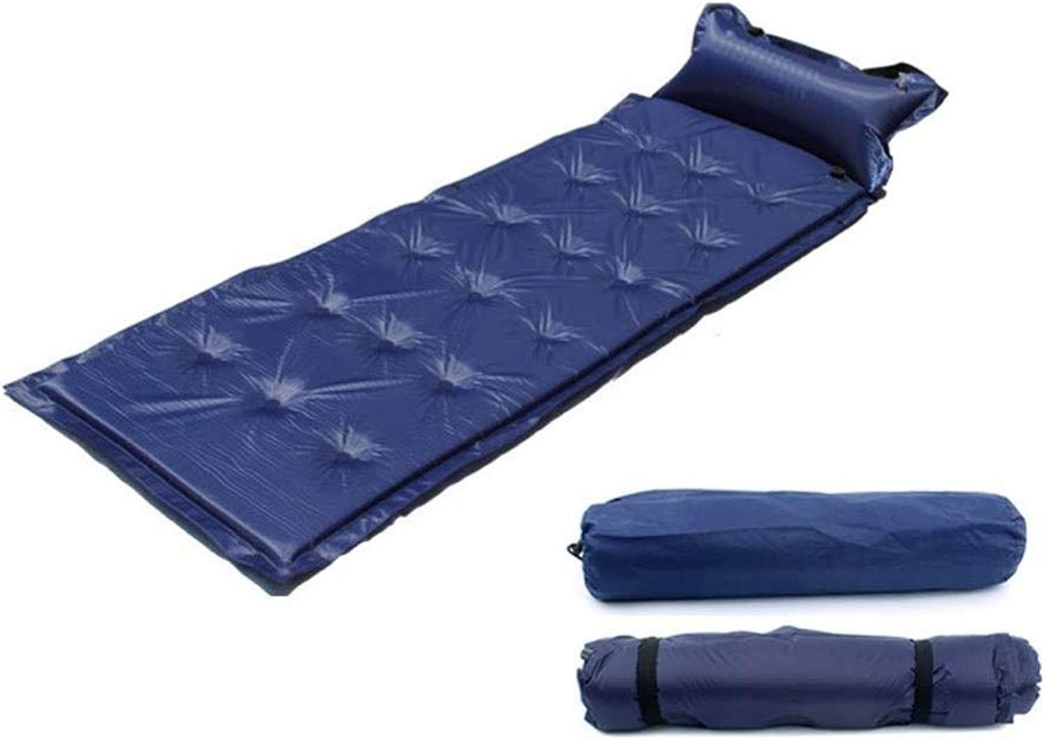ForallMs SelfInflation Sleeping Matress with Air Pillow,Camping Inflatable Sleeping Pad Portable Mattress Air Bed for Camping, Travel, Hiking, Backpacking,Green