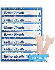 Tiras Nasales Antironquidos 50 Tiritas Breathe Right Tiras Nariz remedios para no roncar - Contra Ronquidos y abrir Fosas Mejora la Calidad de Sueño - Nasal Strips