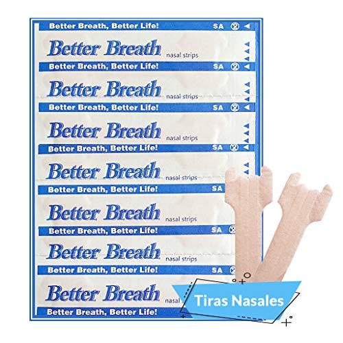 Tiras Nasales Antironquidos Nariz- 50 Tiritas Breathe Right - Remedios para no roncar - Respirador Contra Ronquidos y Mejora Calidad del Sueño - Nasal Strips Deportivas