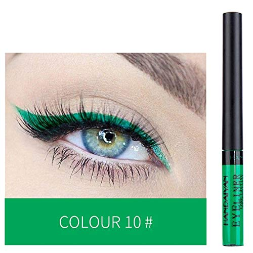 XSWY 1pc Matte Liquide Crayon Eyeliner Maquillage Long Lasting Quick Dry Glitter Eye Liner Pen Blanc Eyeliner Or Pigment cosmétique (Couleur : 10)