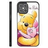DISNEY COLLECTION Coque pour iPhone 12 Pro - Antidérapante et résistante aux chocs - Motif Winnie l'ourson et cochon - Pour femme et fille