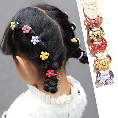 10 * Kleine meisjes Schattige bloemen Haarbanden Baby Haarbanden Banden Haarbanden Haaraccessoires Radijs Ananas Aardbei