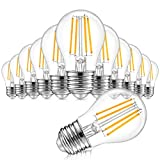 12-Pack Dimmable Globe A15 LED Bulbs 60W Equivalent, 6W Vintage E26 Edison Bulb 2700K Warm White, AC 120V, Great for Ceiling Fan, Bathroom Vanity Fixtures