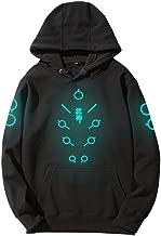TOKYO-T Overwatch Genji Hoodie for Men Sweatshirt Costume Night Glow Painted Luminous