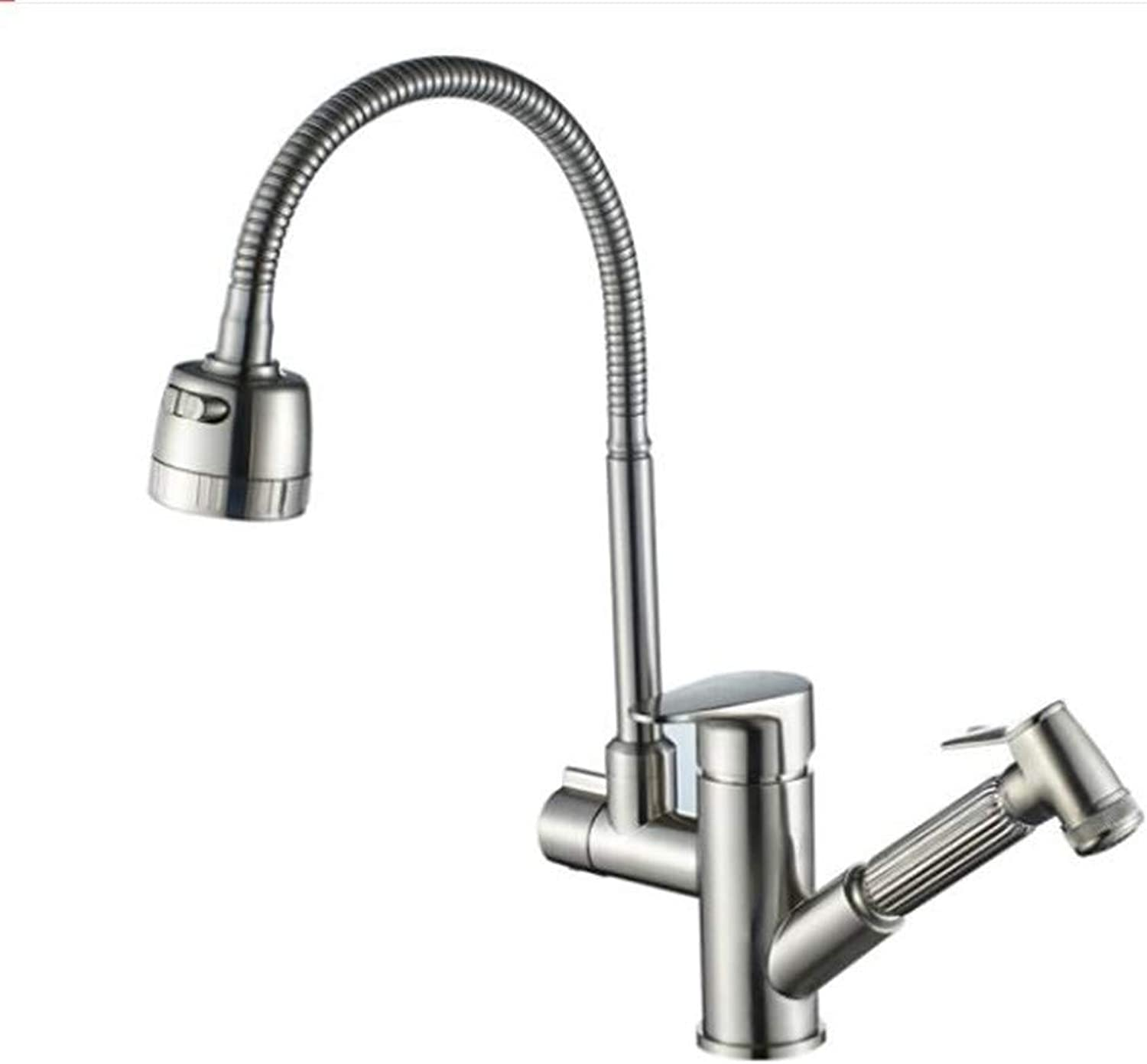 Bathroom Sink Basin Lever Mixer Tap Kitchen Dishwasher Faucet Pull Cold and Hot Dishwasher Faucet Universal redary Kitchen Stainless Steel Sink Faucet
